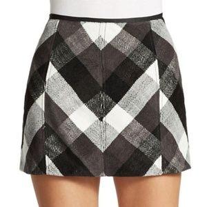 Free People Black and White Twiggy Mini Skirt